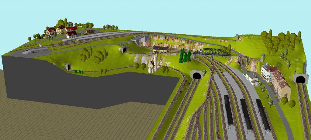 Gleisplan Roco Spur N 3D-Ansicht