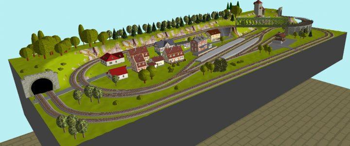 Gleisplan Fleischmann Spielanlage